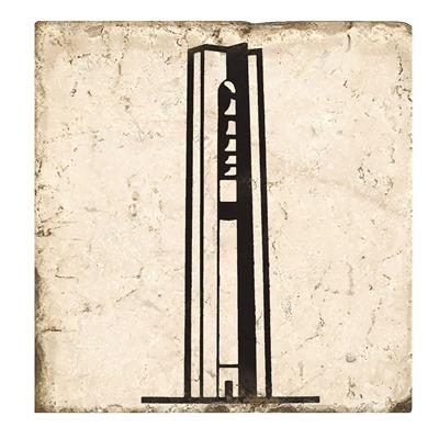 Deeds Carillon Bell Tower Marble Coaster