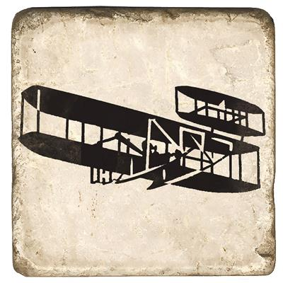 Wright Flyer Marble Magnet