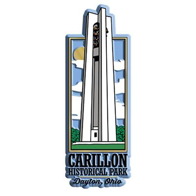 Carillon Bell Tower Rubber Magnet