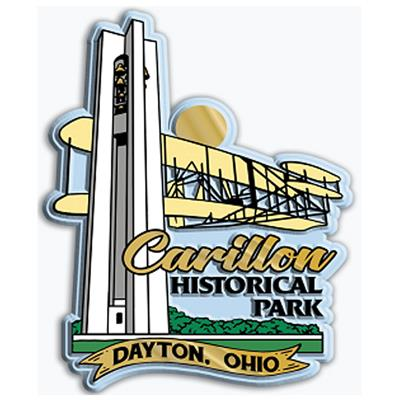 Carillon Bell Tower and Wright Flyer Rubber Magnet