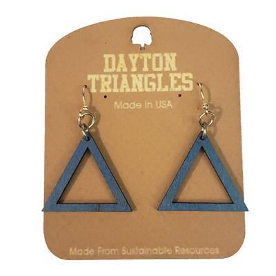 Dayton Triangles Wooden Earrings