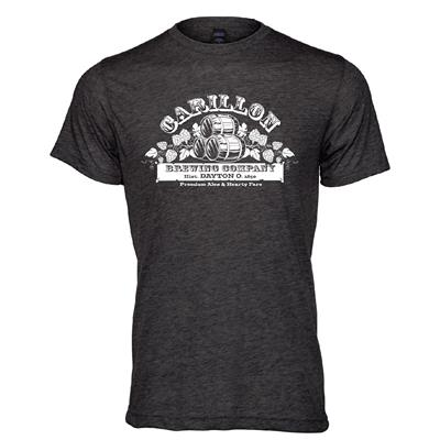 Carillon Brewing Company Grey T Shirt Barrels & Hops,88200429512